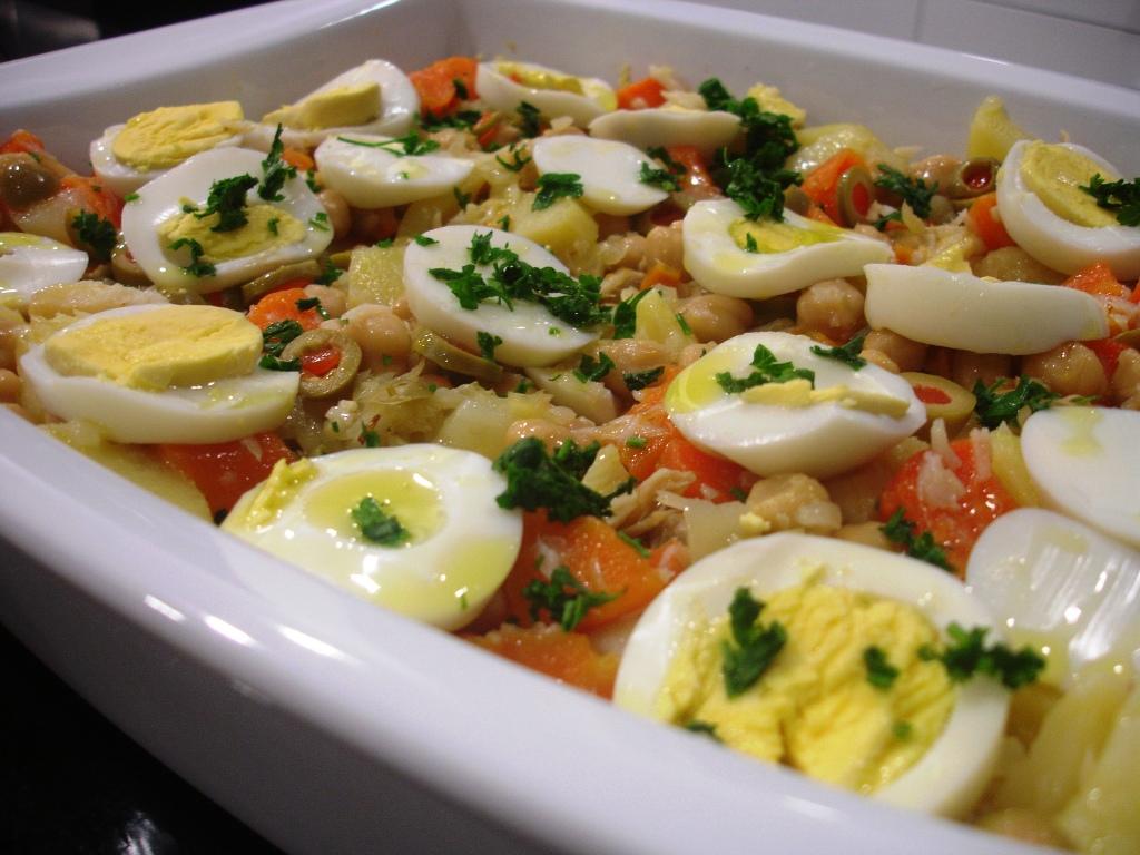 Salada de Bacalhau, um aproveitamento