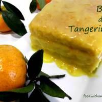 O meu primeiro gomo de tangerina e um bolo