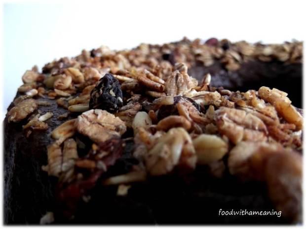 bolo de frutos secos e granola