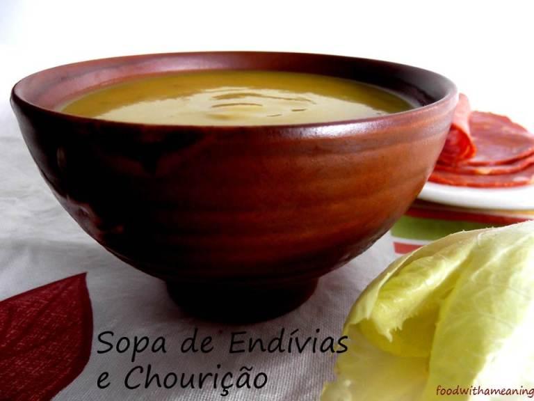 Sopa de Endívias e Chourição_foodwithameaning