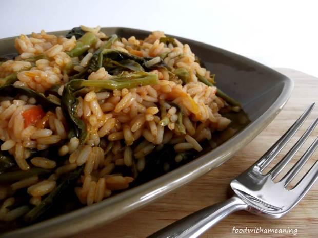 arroz de grelos com tomate