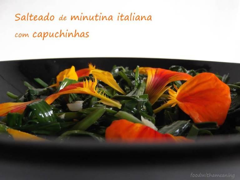salteado de minutina italiana com capuchinha_foodwithameaning