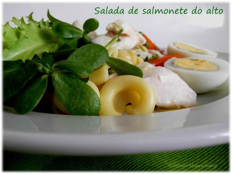 Salada de salmonete do alto
