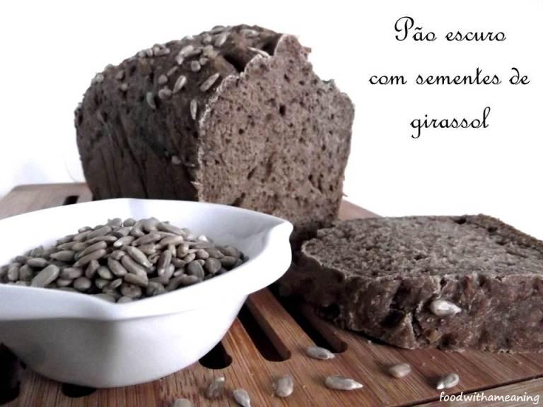 pão de centeio e trigo com sementes de girassol