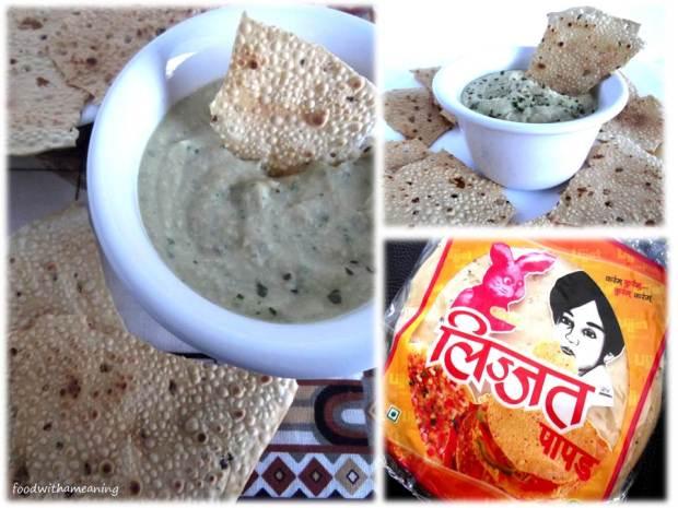 Hummus com papadam picante_foodwithameaning