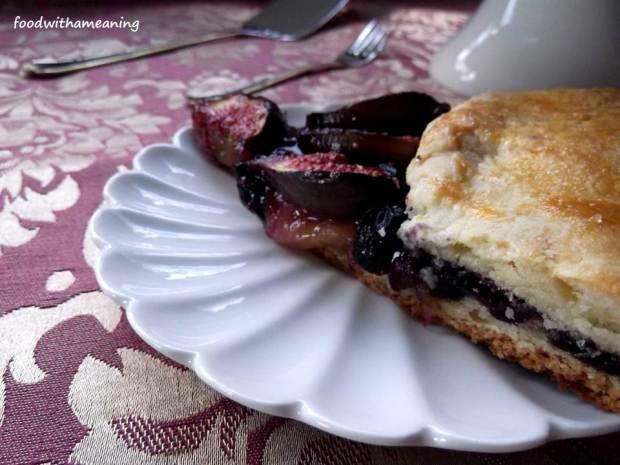 galette de figos e uva-da-serra