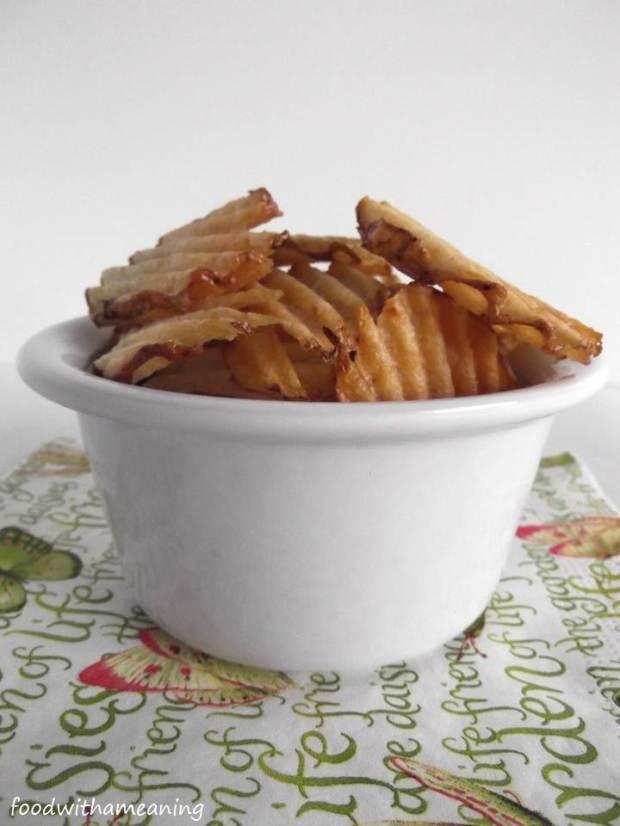 Batatas fritas onduladas