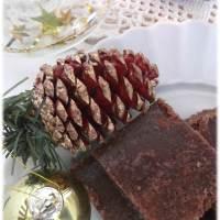 Caramelos de Chocolate na mesa de Natal