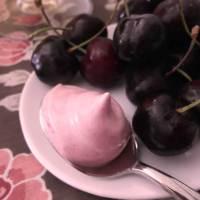 Espuma de cereja para o fim de semana