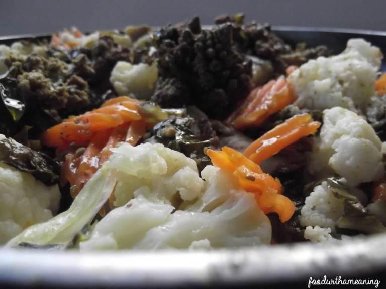 salada quente de romanesco