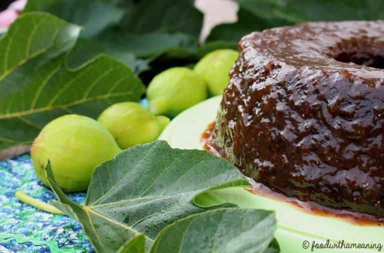 bolo de figos frescos