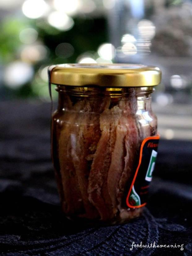 filetes de anchova em azeite