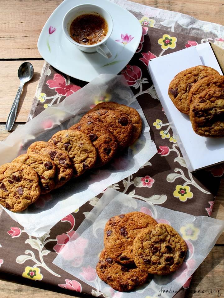 cookies de chocolate e manteiga de amendoim