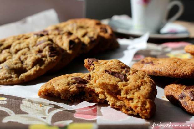 cookies de chocolate e manteiga de amendoim