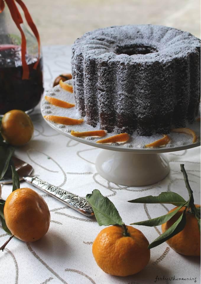 bolo de tangerina e frutas cristalizadas