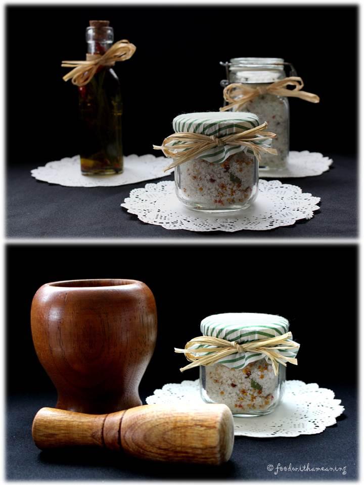 sais e azeite aromatizados