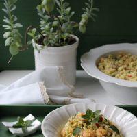 Salada de Millet com Camarão, Atum e Alho-francês