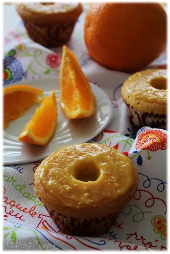 queques de laranja com curd de laranja