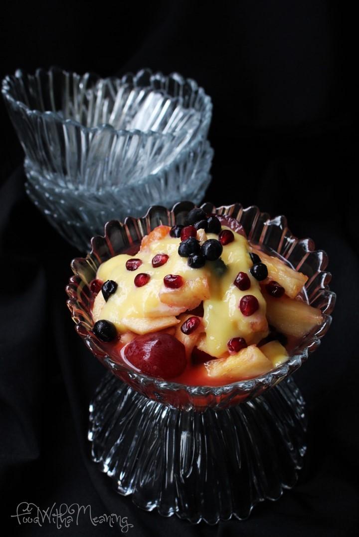 salada de fruta com lemon curd