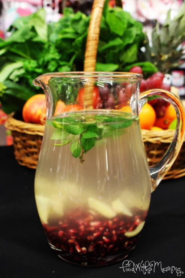 água de romã e gengibre
