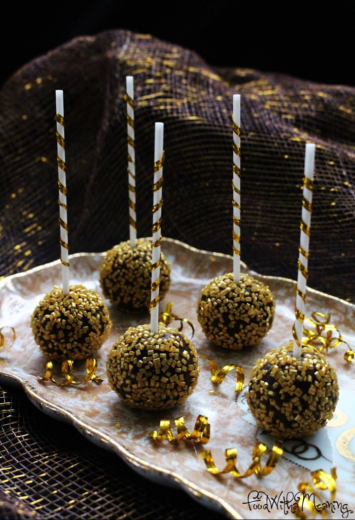 cake pops de chocolate com pimenta e canela