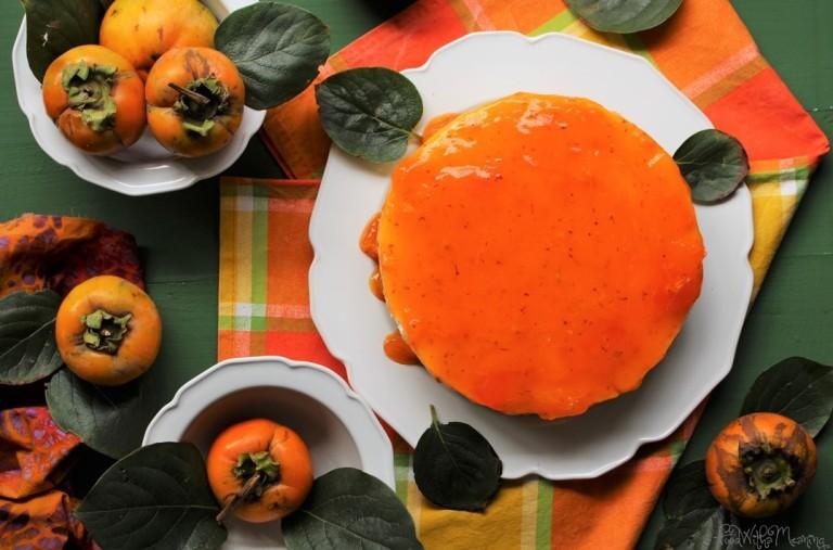 cheesecake de dióspiro