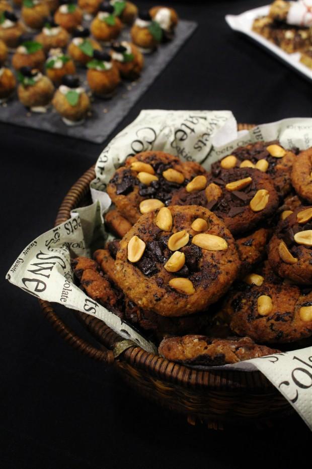 cookies de chocolate e grão-de-bico