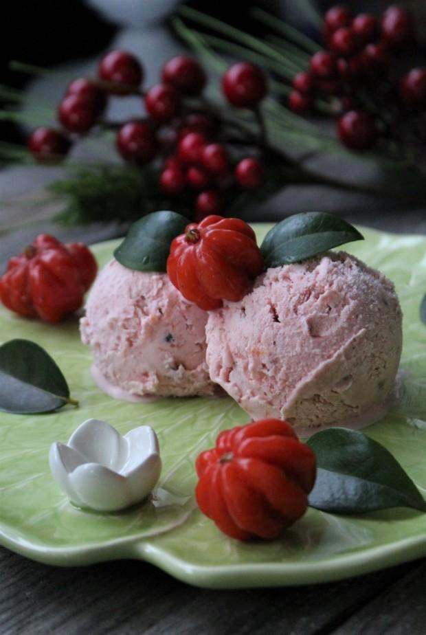 gelado de pitanga