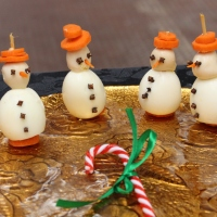 Bonecos de neve...uma ideia saudável e gira