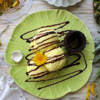 Gelado de Abacaxi com natas vegetais e frutose