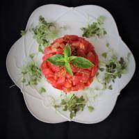 Salada de abacate com atum e tomate...