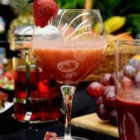 Sumo de morango antioxidante e vitaminado