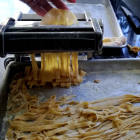 Tagliatelle homemade com marisco