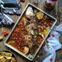 Anchova no Forno com Tomate-Cereja