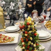 Árvore de Natal de Azeitonas, Queijos e Uvas