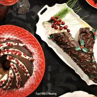 Tronco de Natal de Cenoura com Laranja