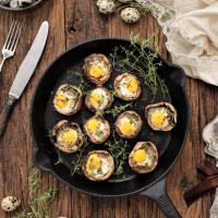 Cogumelos com ovos de codorniz... bem-vindo setembro