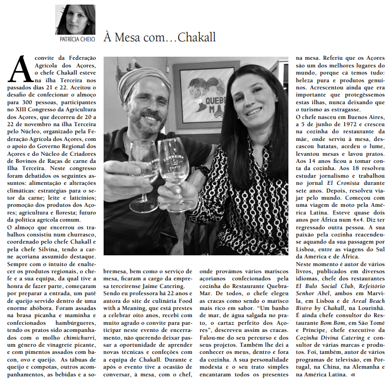 artigo DI Chakall na ilha Terceira