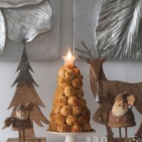 Croquembouche...um lindo centro de mesa de Natal