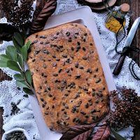 Bôla de presunto, bacon, chourição e queijos da Quinta dos Açores