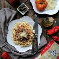 Esparguete à Bolonhesa com Alcaparras
