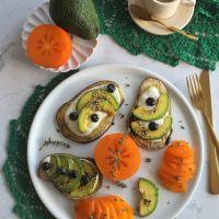 Fatias de Batata-Doce com Iogurte e fruta