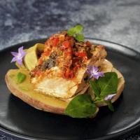 Barrigas de Atum com Batata-doce, Inhame e Feijão Verde