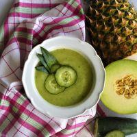 Sopa Fria de Meloa e Pepino
