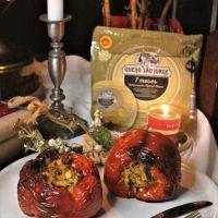 Pimentos Recheados com Sobras de Carne, Legumes e Queijo São Jorge DOP